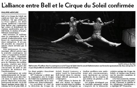 Bell Cirque La Presse